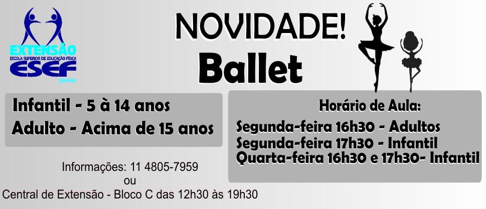 Novidade! Projeto de Extensão – Ballet