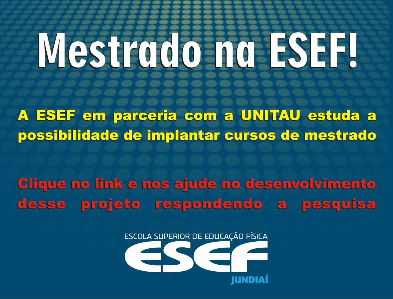 Mestrado na ESEF!